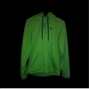 UNDER ARMOUR Lime Green Light Hoodie Size Medium